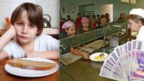 """Hladové děti dostanou na obědy 80 milionů. Pomoc státu může brzy """"vyschnout"""""""