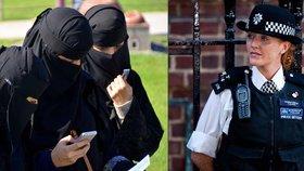 Budou ženy zákona zahalené od hlavy k patě? Britská policie možná povolí burky