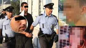 Obviněný z únosu Daniela (16) a Jany (13): Do cely šel s monoklem pod okem!