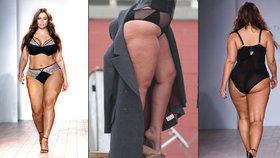 Newyorský týden módy zbořila XXXL modelka: Špeky se houpaly, diváci jásali!