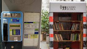 """Telefonní automaty mizí po stovkách. Část z nich se mění na """"knihobudky"""""""