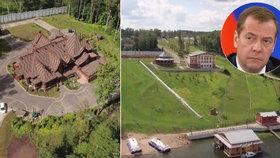 Medveděvovo luxusní sídlo prozradila fotka hub: Tohle je dača pana premiéra, tvrdí ruská opozice