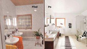 Proměna koupelny: Desítky let stará nemoderní koupelna prokoukla a vyhoví i starším lidem