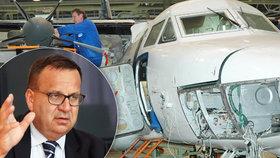 Rusové budou v Kunovicích vyrábět letadla dál. Slíbili to Mládkovi