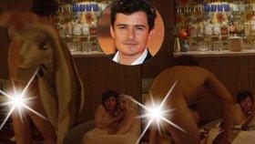 Nestydatý Orlando Bloom: Nahý si užívá v posteli se dvěma kráskami!