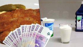 Neústupné marže obchodníků i špatná úroda: Zdraží řízek i jogurt. A co dál?