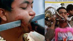 Foto jen pro otrlé: V Thajsku odstartoval brutální vegetariánský festival!
