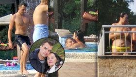Gregorová (64) s mladým milencem (32): Něžnosti v bazénu! To neměl nikdo vidět