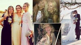 Exkluzivní fotky z tajné svatby Terezy Maxové! Rozdováděné topmodelky Herzigová, Kurková a Peštová