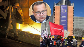 Propouštění a likvidace českého průmyslu: Oceláři vyrazí protestovat do Bruselu