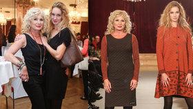 Nálepková v 56 letech modelkou: S dcerou Pepinou se potkaly na mole!