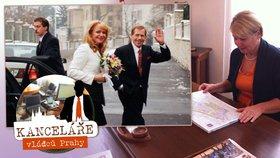 Starostka Prahy 3 starostuje ve dvou kancelářích: V jedné se ženil Václav Havel