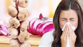Česnek, cibule, křen a med: Silná čtyřka v boji proti nachlazení