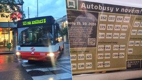 Autobusy pojedou jinak, vznikne 8 nových linek a 5 zanikne: Už od soboty 15. října!
