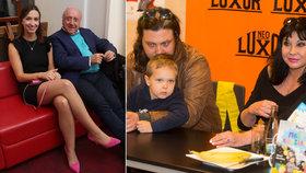 Patrasová na akci se synem a vnukem: Slováček si mezitím užíval s milenkou!