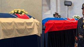 Trapas na státním pohřbu. Slováci prezidentu Kováčovi otočili vlajku