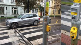 Praha má nový druh tlačítek na přechodu. K čemu slouží šedá?