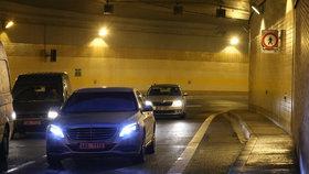 Čtyřikrát za sebou se uzavře část Blanky. Správce pokračuje v mytí tunelu