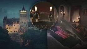 Máte pro strach uděláno? Drákulův hrad se otevírá hostům, spí se tu v rakvích!