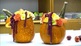 Dýně místo vázy! Vyrobte si netradiční dekoraci, s naším videem to zvládnete