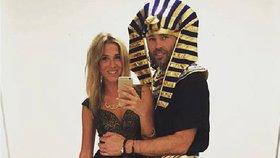 Faraon a jeho Veronika: Takhle Jágr vyvedl přítelkyni na Halloween!
