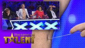 Fakír Zamora z Talentu: Propichuje si ruce!