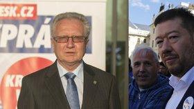 Okamurovci a velebovci chtějí přepsat výsledek voleb. Jde jim o střední Čechy