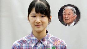 Vnučka japonského císaře mešká ve škole: Je už měsíc nemocná