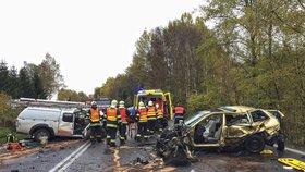 Žena na Chebsku dostala smyk a narazila do dvou aut: Chlapec (†5) nehodu nepřežil