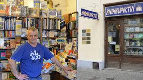 Knihkupci z Nuslí hrozil krach. Lidé ho pak zavalili objednávkami, aby mu pomohli