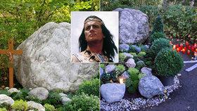 Vinnetou se dočkal hrobu! Místo odpočinku Pierra Brice (†86) už není jen balvan