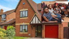 Desetičlenná rodina bere na dávkách 1,3 milionu! Dostali i pohádkový dům