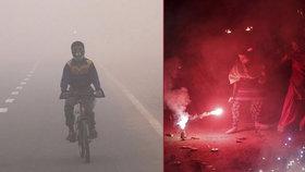 Svátek světel ponořil Dillí do smogové tmy. Za vše mohou ohňostroje
