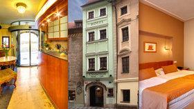 Nejužším domem v Praze je hotel kousek od Karlova mostu. Měří pouhých 3,28 metru