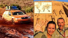 Češi projeli ve škodovce celý svět! Během dvou let navštívili 50 zemí a najeli přes 100 tisíc km