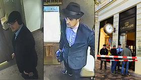 To jsou zloději, kteří vykradli butik královny Pařížské. Mohou prchat v netypickém autě