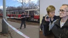 Vrah z tramvaje č. 17 popravoval zbraní po otci: Dorážela se s ní zvěř