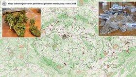 Nežijete v domě, kde se vařil pervitin? Mapa odhaluje varny drog v Česku