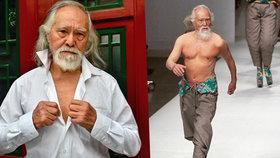 Sexy děda hvězdou přehlídek: Módní molo dobyl v 80 letech