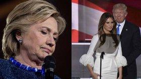 Další skandály: Clintonová dostala milion od Kataru, Trumpová pracovala ilegálně