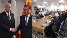 """Sobotka """"stopku pro Jurečku"""" s čínským premiérem neřešil. Vztahy jsou prý dobré"""