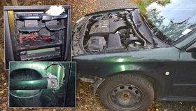 Zloději očesávají auta v Plzni - berou kapoty, nárazníky i autorádia
