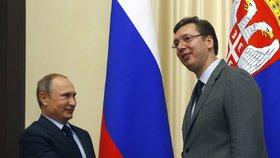 Prezident přiznal ruské špiony v zemi. Minulý týden skončil Vučić v nemocnici