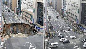 Japonci opravili 30metrový kráter za pouhý týden! Češi blednou závistí