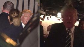 """Trump se opět """"vykašlal"""" na protokol. Pláchl novinářům na večeři s rodinou"""