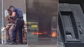 Mladík (21) se podpálil v bance: Při explozi se zranilo 27 lidí, včetně 6 dětí