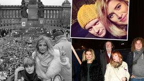 Oslavy 17. listopadu celebrit: Těhotná Smetana schovávala břicho, Maxová vyvedla syna
