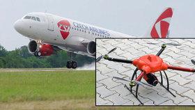 Letadlo se při přistání v Praze málem srazilo s dronem: Pilot zažehnal neštěstí
