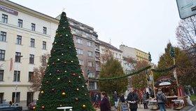 Na I. P. Pavlova už jsou vánoční trhy. Další budou následovat