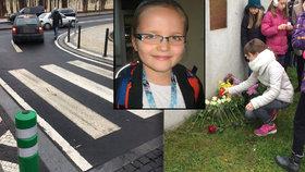 Anežku (†8) na Žižkově před 7 lety srazil na přechodu náklaďák: Její smrt zachrání další děti, křižovatka je konečně bezpečná
